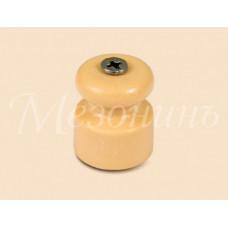 Изолятор Мезонинъ D19x24 песочное золото фарфор универсальный