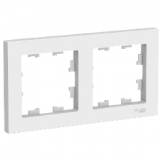 ATLASDESIGN Рамка двухпостовая белая Schneider Electric