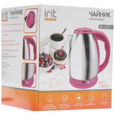 Чайник электрический сталь Irit 1.8л 1500Вт розовый