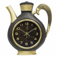 Часы настенные Рубин чайник пластик 26,5*24 корпус черный с золотом