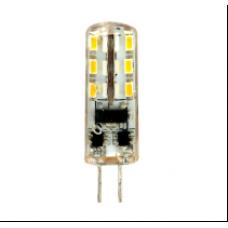 Лампа светодиод.G4 2Вт 12В 6400K JC 170Lm силикон/прозрачный LB-420 Feron
