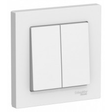 ATLASDESIGN Выключатель двухклавишный белый в сборе Schneider Electric