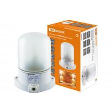 Светильник для сауны белый 60Вт Е27 IP54 настенно-потолочный до +125° НПБ400 TDM