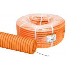 Труба гофр.ПНД 20мм с зондом легкая оранжевая DKC