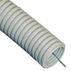 Труба гофр.ПВХ 16 мм б/протяжки серая DKC