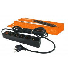 Фильтр сетевой 6гн.3м черный 16А 3.5кВт TDM