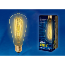 Лампа накаливания 60Вт E27 ST64 IL-V-ST64-60/GOLDEN/E27 VW02 Uniel