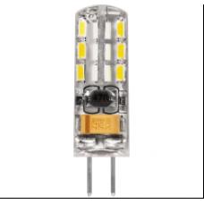 Лампа светодиод.G4 2Вт 12В 4000K JC 160Lm силикон/прозрачный LB-420 Feron