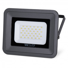 Прожектор светодиодный 50Вт 5500K IP 65 SMD WFL-50W/06  WOLTA  серый, слим