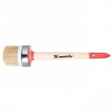 Кисть круглая Профи №4 (25 мм), натуральная щетина, деревянная ручка// MTX
