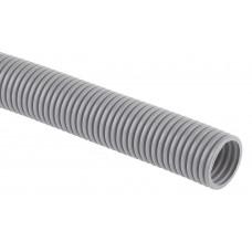 Труба гофр.ПВХ 20 мм с протяжкой легкая серая (100м) DKC