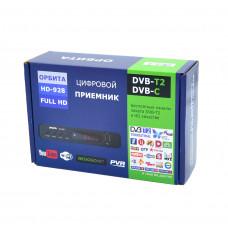 Цифровой Ресивер DVB-T2 Орбита HD 928 + HD плеер (Wi-Fi)