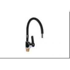 См-ль д/кухни 35 мм на гайке с гиб. силикон. изливом AK6837-7 AquaKratos черный