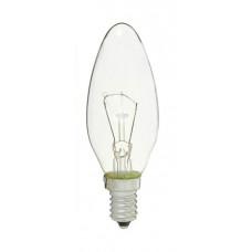 Лампа ДС 60W E14 (уп.100шт.) свеча прозрачная, цветная гофра (Калашниково)