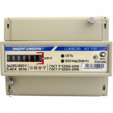 Счетчик электроэнергии ЦЭ6803В 1 230В 5-60А 3ф.4пр. М7 Р31 трехфазный однотарифный, 5(60) Энергомера