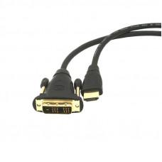 Кабель HDMI - DVI 1.8m GOLD Gembird черный CC-HDMI-DVI-6