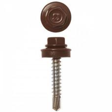 Саморез кровельный RAL-8017 ZP 5,5х19 шоколадно-коричневый 1кг (210шт)