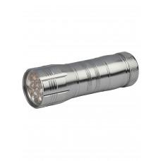 Фонарь ручной алюминиевый S-LD038-С (3хR03) 1св/д 0.5W черный/пластик+резина Uniel