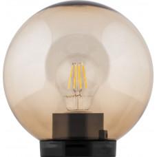 Светильник садово-парковый, ПМАА, 230V E27, d=200мм,  золотой, НТУ 01-60-203, 11563