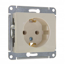 GLOSSA Механизм розетки 1 м с/з бежевая GSL000243 Schneider Electric