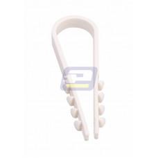 Дюбель-хомут 5-10 мм белый (100шт/уп.) PROconnect