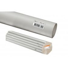 Труба гладкая жесткая ПВХ d 25 (74 м) длина 2 м индивид. штрихкод TDM