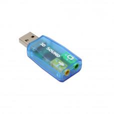 Внешняя звуковая карта USB 5,1-Channel w/3,5 мм