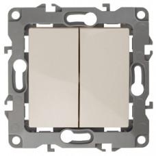 Механизм выключателя 2 кл.б/м.лапок 10АХ-250В слон/кость 12-1004-02 ЭРА