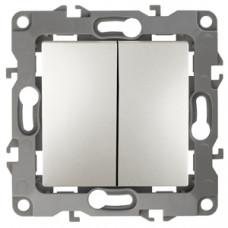Механизм выключателя 2 кл.б/м.лапок 10АХ-250В перламутр 12-1004-15 ЭРА