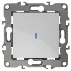 Механизм выключателя 1 кл.с подсветкой 10АХ-250В белый 12-1102-01  ЭРА