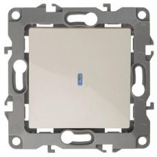 Механизм выключателя 1 кл.с подсветкой 10АХ-250В слон/кость 12-1102-02 ЭРА