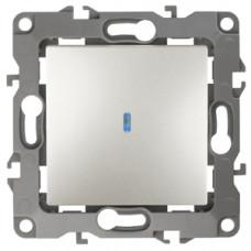Механизм выключателя 1 кл.с подсветкой 10АХ-250В перламутр 12-1102-15 ЭРА