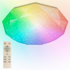 Светильник светодиод.60Вт 4900lm 2K-4K-6K RGB IP44 звездное небо ПДУ Almaz R Estares