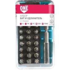 Набор бит (насадок) 31 предмет SL,PH,PZ,HEX,TORX по 6 шт CR-V Smartbuy One Tools