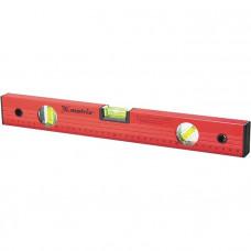 Уровень алюминиевый, 1000 мм, 3 глазка, красный, линейка// Matrix