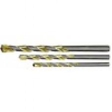Сверло по металлу 3мм HSS нитридтитановое покрытие цилиндрический хвостовик Matrix