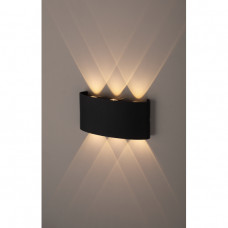 Свеильник декоративная подсветка светодиодная 6*1Вт IP 54 черный WL12 BK ЭРА