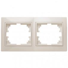 Intro Plano рамка на 2 поста гор.,СУ белый 1-502-01