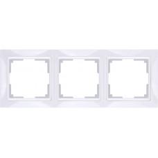 Intro Plano рамка на 3 поста гор.,СУ белый 1-503-01
