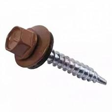 Саморез кровельный RAL-8017 ZP 4,8х51 шоколадно-коричневый 50шт