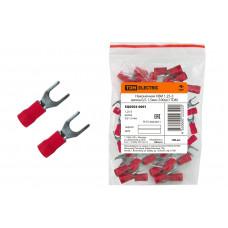 Наконечник НВИ 1,25-3 вилка 0,5-1,5мм (100шт/упак) красный TDM