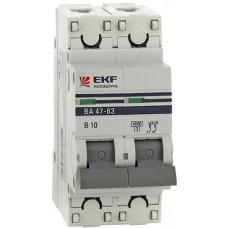 Выключатель автомат. 2Р 50А хар.С ВА 47-63 4,5кА 400В PROxima EKF