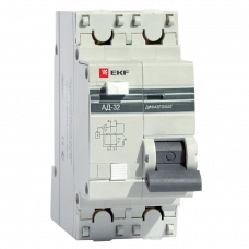 АД-32 1Р +N 63А 30мА хар.С - выключатель автомат. дифференц. DIN рейка 4,5кА 230В PROxima EKF