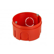Коробка установочная д/бетона 68х40мм HEGEL КУ1106 красная