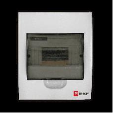 Бокс (корпус) пластик ЩРН-П-10 навесной с дымчатой дверцей IP40 pb40-n-10 EKF PROxima