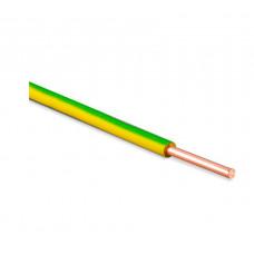 Провод ПуВ 1х4 желто-зеленый одножильный