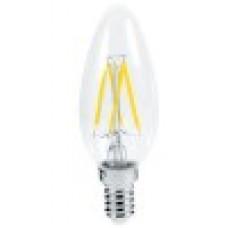 Ecola свеча E14 5W 2700K 2K прозр. 96x37 филамент (нитевидная), 360° Premium N4QW50ELC