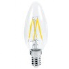 Ecola свеча E14 5W 4000K 4K прозр. 96x37 филамент (нитевидная), 360° Premium N4QV50ELC
