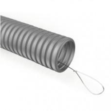 Труба гофр.ПВХ 25мм с зондом легкая серая (50м) ЭРА ECO