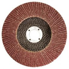 Круг лепестковый торцевой КЛТ-1, зернистость Р60(25Н), 125 х 22,2 мм, (БАЗ)// Россия
